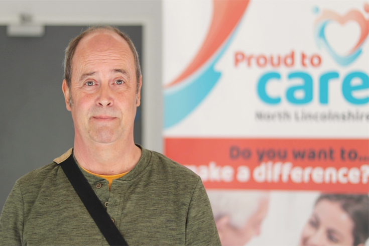 Photograph of Phillip, a local care worker